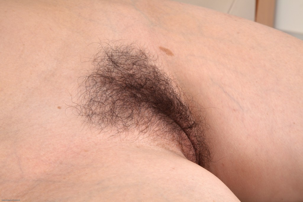Hairy mature wife nude