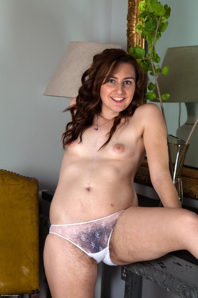 Hairy white girls in panties